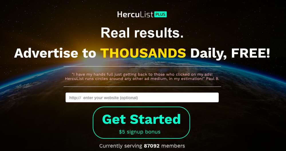 Herculist Review | Free & Paid Traffic For Affiliates 2019