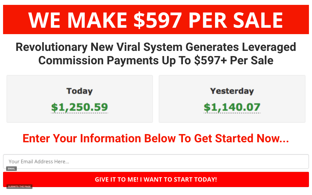 Revolutionary New Viral System Generates Leveraged Commission Payments Up To $597+ Per Sale