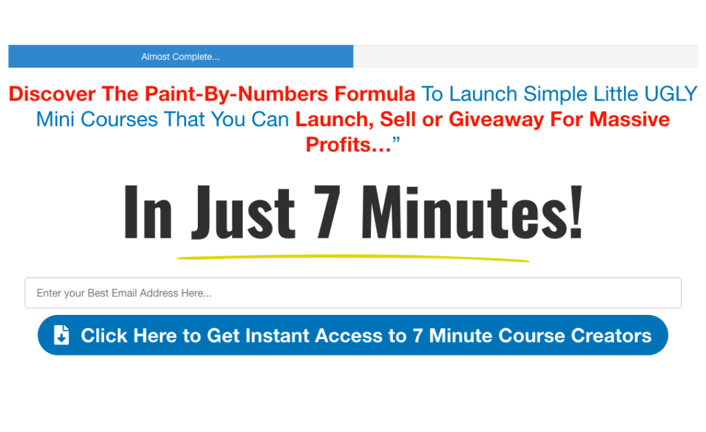 Create Courses in just 7 minutes