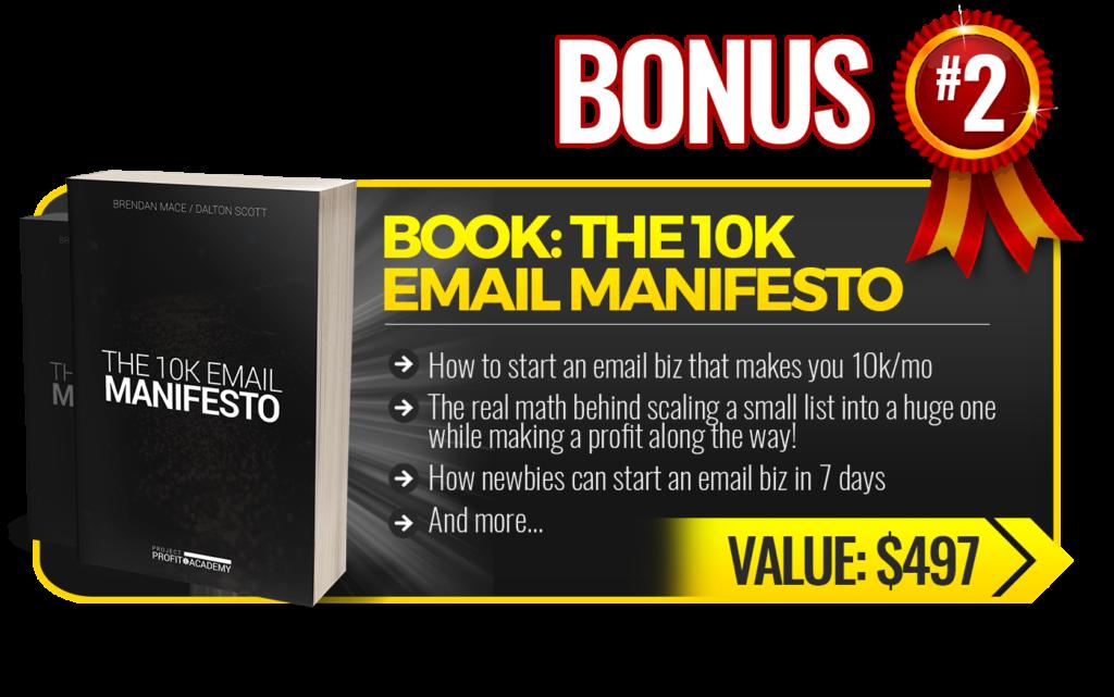 Traffic Mate 10k email manifesto bonus 2